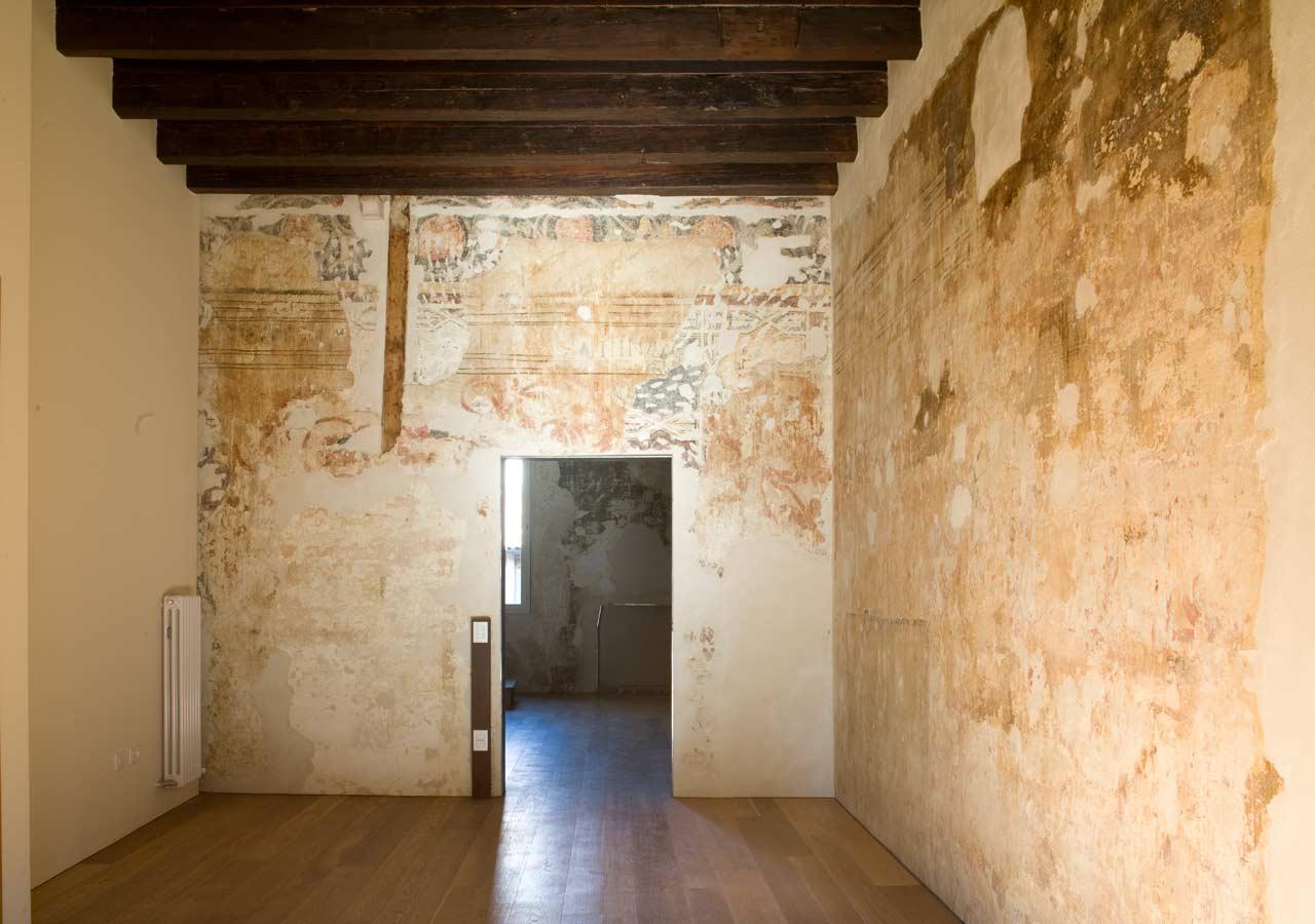 restoration project, palazzo malvasia sugana